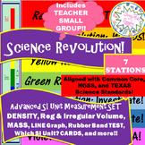 Density, Irreg Volume, Line Graph, MASS SET-7-Station Review REVOLUTION!