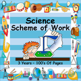 SCIENCE - SCHEME OF WORK - MASSIVE FILE COVERING 3 YEARS - 100's OF PAGES