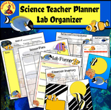 SCIENCE TEACHER LESSON PLANNER/Room Inventory Lab Organizer CORAL REEF FISH