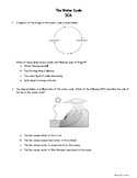 SCIENCE TEKS 4.8B The Water Cycle SCA (Short Cycle Assessment)