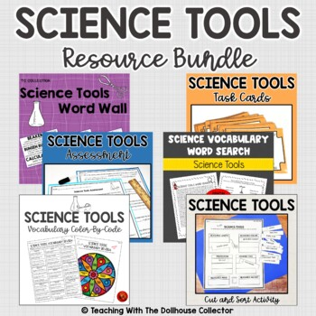 SCIENCE TOOLS BUNDLE! WORD WALL + TASK CARDS