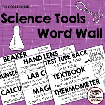 SCIENCE TOOLS WORD WALL - From the TC Collection
