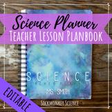 SCIENCE Teacher Planner Editable Binder Template: WATERCOL