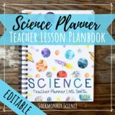 SCIENCE Teacher Planner WATERCOLOR SPACE THEME: Editable B