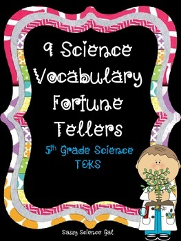 SCIENCE VOCABULARY {Fortune Tellers!!!!!}