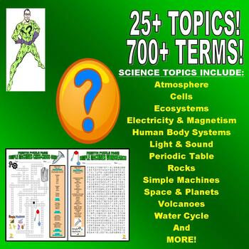 SCIENCE VOCABULARY PUZZLES - 50 PUZZLE SET