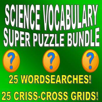 SCIENCE VOCABULARY PUZZLES - 50 PUZZLE SET