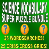 SCIENCE VOCABULARY PUZZLES - 50 PUZZLE BUNDLE