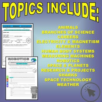 SCIENCE WEBQUEST Bundle #2 (10+ assignments / 35 pages) - Internet