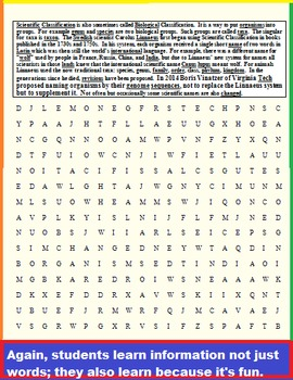 SCIENCE WORD SEARCHES (END OF SCHOOL YEAR & YEAR AROUND GREAT)