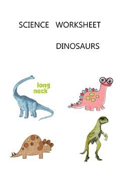SCIENCE  WORKSHEET - DINOSAURS - GRADE 1 GRADE 2 GRADE 3 GRADE 4