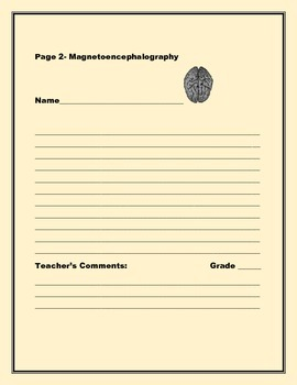 SCIENCE WRITING PROMPT: MAGNETOENCEPHALOGRAPY, AP BIOLOGY, GRADES 7-12