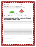 SCIENCE WRITING RESEARCH PROMPT: BOTANY: CUCUMBERS & WATERMELON
