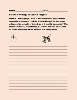 SCIENCE WRITING/ RESEARCH PROMPT: CHIKUNGUNYA -AP BIOLOGY,