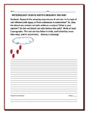SCIENCE WRITING RESEARCH PROMPT: METEOROLOGY: RED RAIN