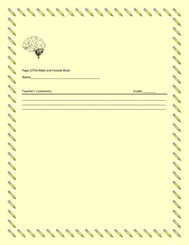 SCIENCE WRITING/ RESEARCH PROMPT: THE BRAIN