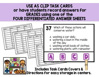 3rd Grade Common Core Science Task Cards Center and Scoot Game