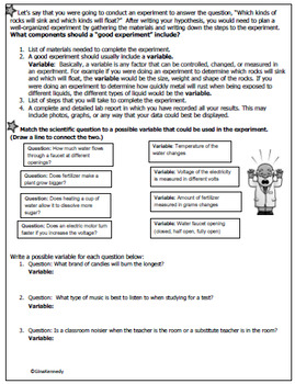 Scientific method multiple choice questions pdf