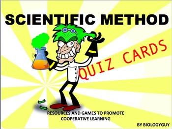 SCIENTIFIC METHOD, QUIZ CARDS