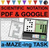 SCIENTIFIC NOTATION A-MAZE-ING Super Fun Activity!