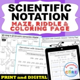 SCIENTIFIC NOTATION Maze, Riddle, & Coloring Page (Fun MATH Activities)