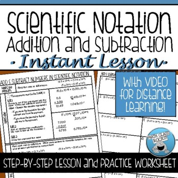 SCIENTIFIC NOTATION OPERATIONS (ADDITION and SUBTRACTION)
