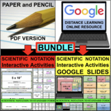 SCIENTIFIC NOTATION Standard Form BUNDLE PDF & Google Slides