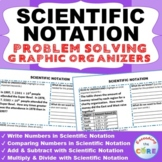 SCIENTIFIC NOTATION Word Problems with Graphic Organizer