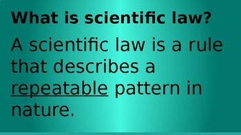 SCIENTIFIC THEORY Powerpoint