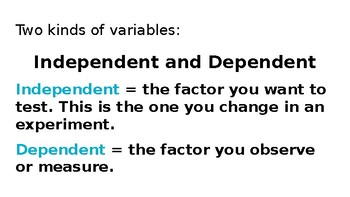SCIENTIFIC VARIABLES Powerpoint