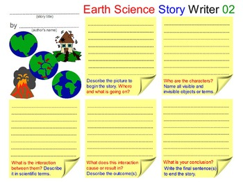 SCIENCE WRITING: Compose Earth Science Story (Book - 1). 10 Pictorial Templates