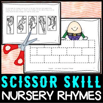 Cutting Practice: Beginner/Kindergarten - Nursery Rhymes