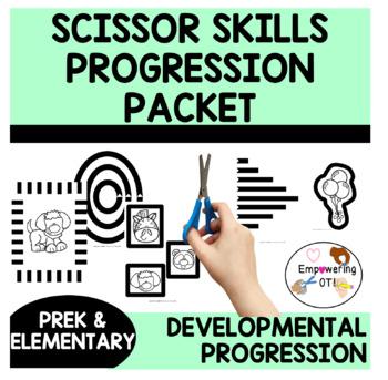 SCISSOR SKILLS PROGRESSION PACKET ! prek k 1 2 teachers OT SPED
