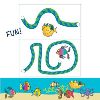 SCISSORS SKILLS:  Sea Animal Themed