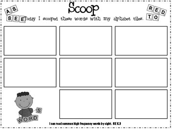 SCOOP - A Sight Word Scramble Game