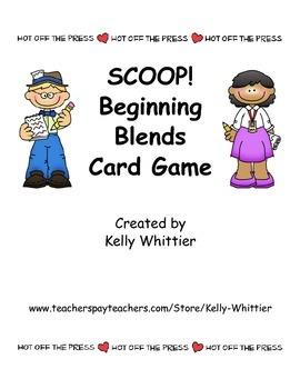 SCOOP! Beginning/Initial Blends Card Game