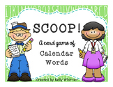 SCOOP! Calendar Words Reading Card Game - Free!