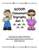 SCOOP! Consonant Digraphs Set 1 Card Game