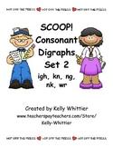 SCOOP! Consonant Digraphs Set 2 Card Game