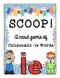SCOOP! Consonant -le Words Reading Card Game