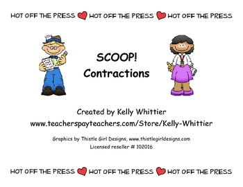 SCOOP! Contractions Card Game