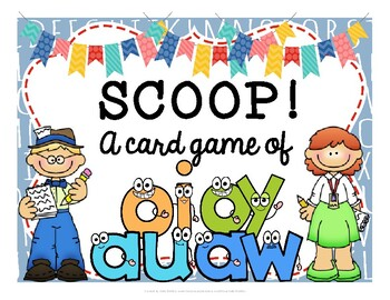 SCOOP! Diphthongs -au, -aw, -oi, and -oy Reading Card Game