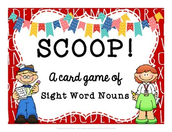 SCOOP! Sight Word Nouns Card Game