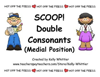 SCOOP! Double Consonants (Medial Position) Reading Card Game