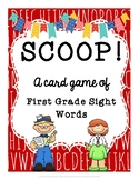 SCOOP! First Grade Sight Words Card Game for Beginner Readers