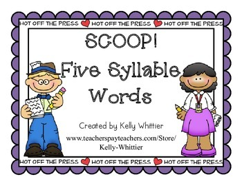 SCOOP! Five Syllable Word Card Game