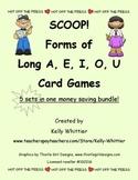 SCOOP! Forms of Long A,E,I,O, and U Games - Money Saving Bundle!