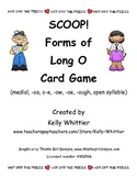 SCOOP!  Forms of Long O Reading Card Game