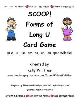 SCOOP!  Forms of Long U Reading Card Game