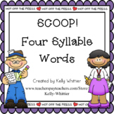 SCOOP! Four Syllable Word Card Game
